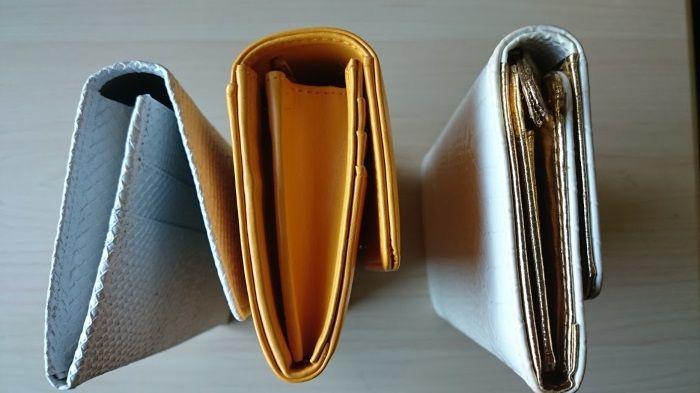 黄虎發財財布と白蛇財布を比較